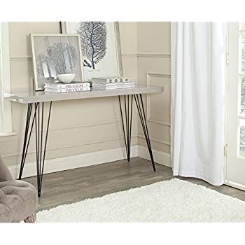 Safavieh Home Collection Wolcott Mid Century Modern Taupe And Black Console  Table