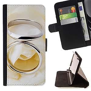 LG Magna / G4C / H525N H522Y H520N H502F H500F (G4 MINI,NOT FOR LG G4)Case , Anillo Pareja- la tarjeta de Crédito Slots PU Funda de cuero Monedero caso cubierta de piel