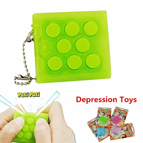 Elitek(TM) DH147 Relieves Stress and Anxiety Bubble Wrap Cube Depression Toys Games (Depression Bubble)