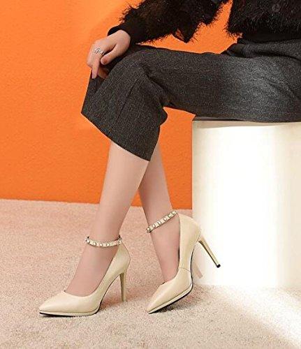 De Robe Cour noir Les De Beige Pour Bride Plate forme à Hauts Avec à Les Talons La Jours Pour Pompes Beige Escarpins à Cheville Chaussures Femmes Chaussures Talons Tous Soirée R1qWZA