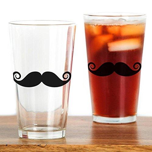 CafePress Moustache Pint Glass Pint Glass, 16 oz. Drinking -