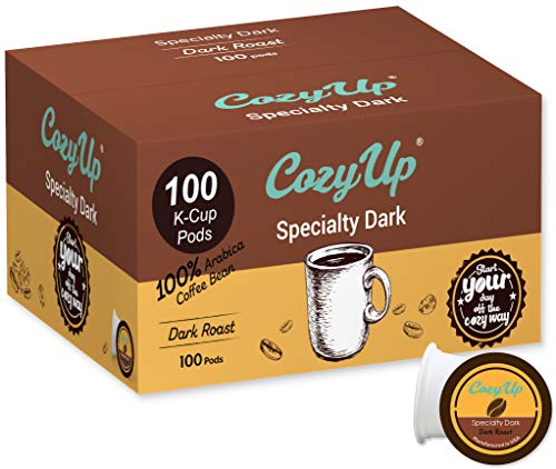 CozyUp 100-Count Specialty Dark Roast Blend Coffee Pods for Keurig K-Cup Brewers, Dark Roast