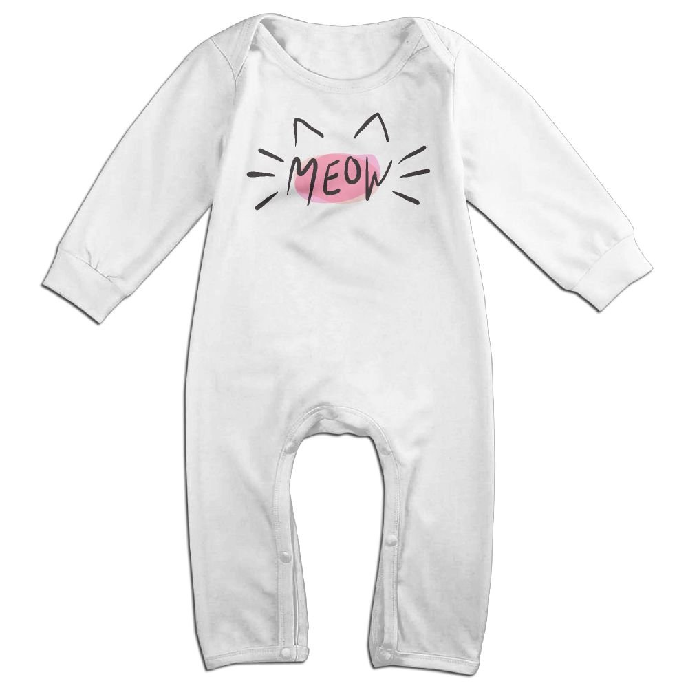 Mrei-leo Newborn Kids Long Sleeve Jumpsuit Cat Meow Kid Pajamas