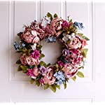 YJBear-European-Vintage-Artificial-Flower-Spring-Door-Wreath-Garland-Handcrafted-Peony-Silk-Flower-Twig-Front-Door-Wreath-Display-for-Entryway-Home-DecorWeddingFestivalPink16-Inch