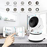 Wifi Home Security Camera, Wireless 720p HD IP Motion Detection Pet Baby Monitor with Micro SD Card Slot Night Vision Video Monitoring Surveillance System Two Way Audio Android IOS Remote Control