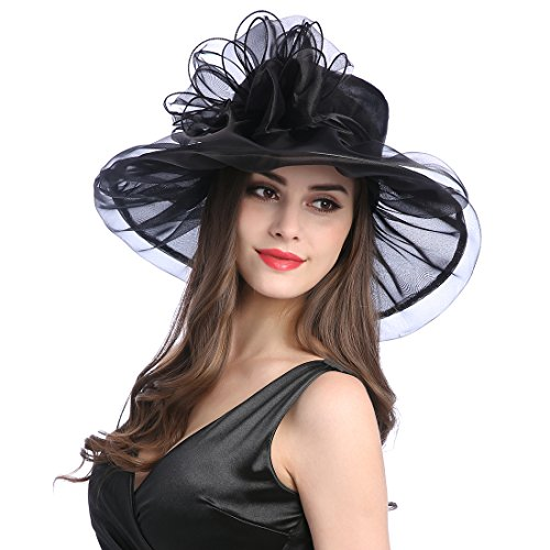 Women's Organza Church Kentucky Derby Fascinator Tea Party Wedding Hat -