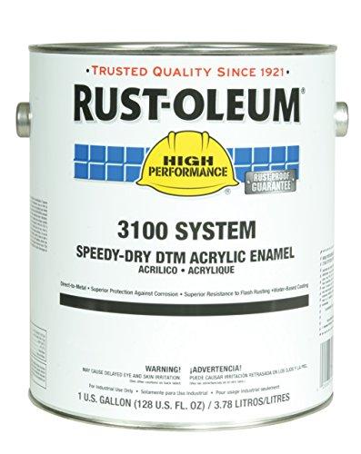 Rust-Oleum 3144300 Safety Yellow High Performance 3100 System Speedy-Dry DTM Acrylic Enamel Paint, 5 gal, 5 fl. oz. Bucket ()