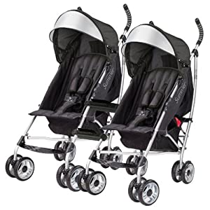 Summer Infant 3D Lite Convenience Strollers with Stroller Connectors, Black