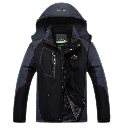 new arrival amazing price sleek TH&Meoostny Veste d'hiver Hommes Épais Velours Manteau Chaud ...
