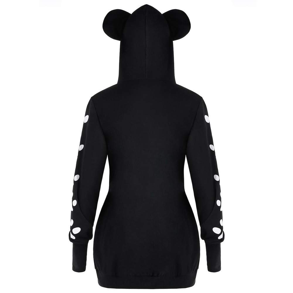 745c7bb8ee3 Amazon.com: Clearance Forthery Women Hoodie Sweatshirt Long Sleeve Cat  Print Pullover Tops Coat: Clothing