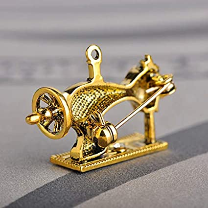 8daebad17 Image Unavailable. Image not available for. Color: Mini Mexx Black Enamel  Sewing Machine Brooches for Women ...