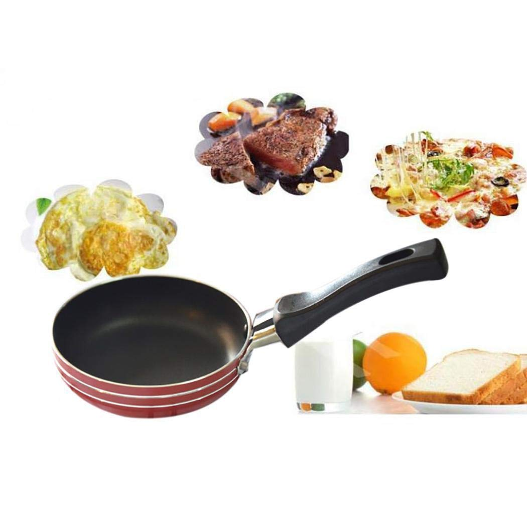Etuoji Portable Nonstick Frying Pan Skillet Mini Cookware Household Kitchen Tool Grill Pans by etuoji (Image #6)