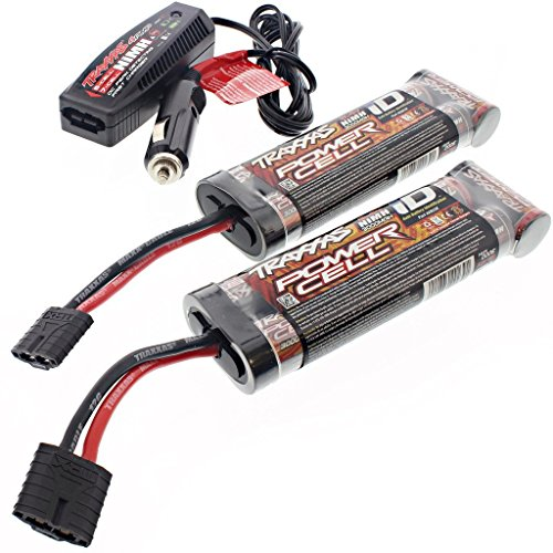 Traxxas 1/10 E-Revo Brushless 2 BATTERIES 8.4v NiMH 3000 mAh & CAR