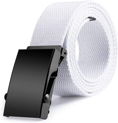 HJFDEW Cinturones De Lona De 120 Cm para Mujer para Hombre Tela De ...