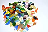 LDGJ 300g/Pack Bright Mixed Color Tumbled Stained Glass Mosaic Tiles Home Decoration