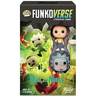 Funkoverse Strategy Board Game: Rick & Morty Theme Set, Expansion Pack 2 Players