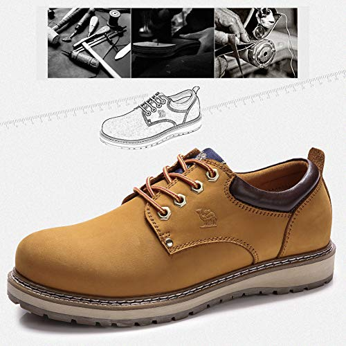 CAMEL CROWN Men's Work Boots 2018 Cowhide Leather Ankle Martin Boots Fashion Casual Soft Toe Men's Shoes by CAMEL CROWN (Image #4)