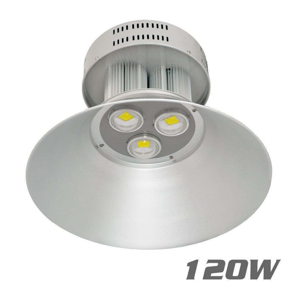 VidaGoods 120W Watt LED High Bay Light Bright White Lamp Lighting Fixture Factory Industry Warehouse