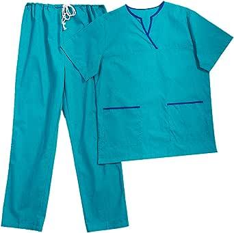 KESYOO Conjunto de uniforme médico de cirúrgica para