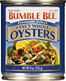 Bumble Bee Premium Select Fancy Whole Oysters, 8 Oz (Pack of 12)