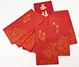 DMtse Pack of 40pcs Lucky Money Red Envelopes for Chinese New Year, Festival Decor - Red LUCKY LAI SEE Blessing