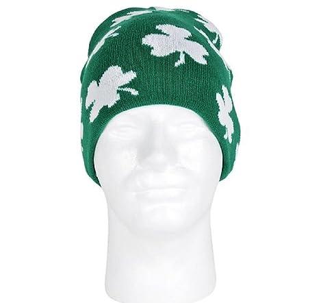 Amazon Knit Shamrock Beanie Hat A Heady Look For St