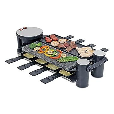 Swissmar KF-77073 Swivel 8 Person Raclette Party Grill, Black