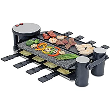 swissmar kf 77041 classic 8 person raclette with reversible cast aluminum non stick. Black Bedroom Furniture Sets. Home Design Ideas