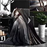 """Nalagoo Unique Custom Flannel Blankets Sport Runner Feet Running On Road Closeup On Shoe Super Soft Blanketry for Bed Couch, Twin Size 70"""" x 60"""""""