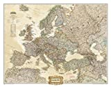 National Geographic: Europe Executive Wall Map (30.5 x 23.75 inches) (National Geographic Reference Map)