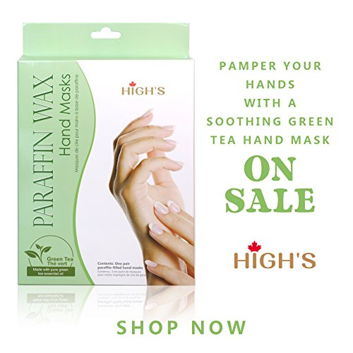 HIGH'S Home Spa Personal Skin Care Quick Heat Manicure Paraffin Wax Hand Mask Moisturizing Gloves , Green Tea