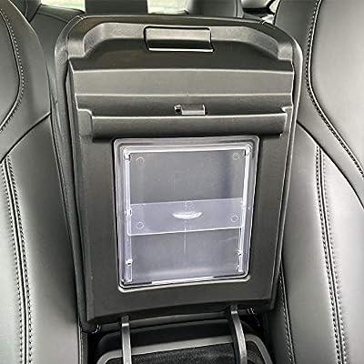 BASENOR Tesla Model 3 Model Y Transparent Center Console Organizer Armrest Hidden Storage Box: Automotive