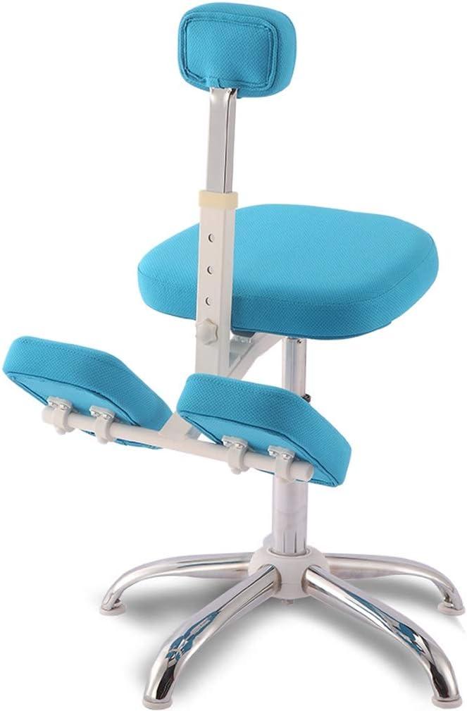 Silla QIQIDEDIAN Rodilla Ergonómica Rodilla Ortopédica Taburete Ajustable Adecuado For Niños De 1,1 M 1,45 M To (Color : Blue, Size : Without Pedals)