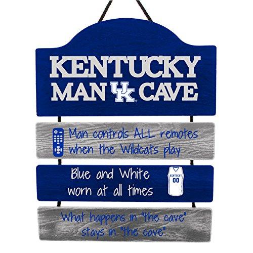 FOCO NCAA Kentucky Wildcats Mancave Sign, Team Color, One Size