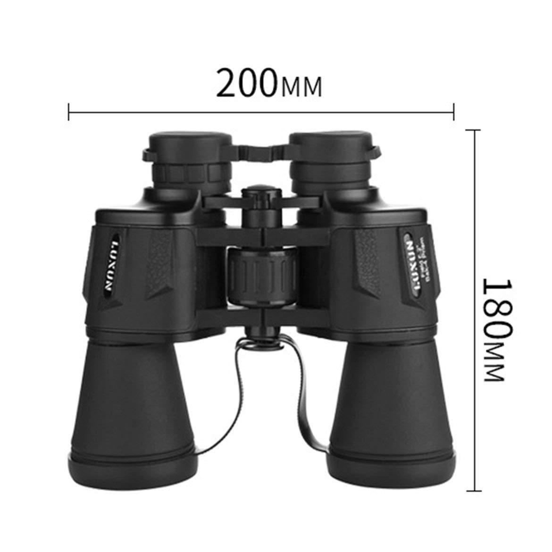 Negro Luxun 20x50 de Alta Potencia Militar Prism/áticos Compacto y telescopio binoculares Impermeable para la observaci/ón de Aves Observaci/ón Acampar