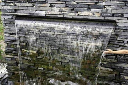 Aquafall 900 mm, Wasserfall aus Edelstahl, z. B. für Mauern: Amazon ...