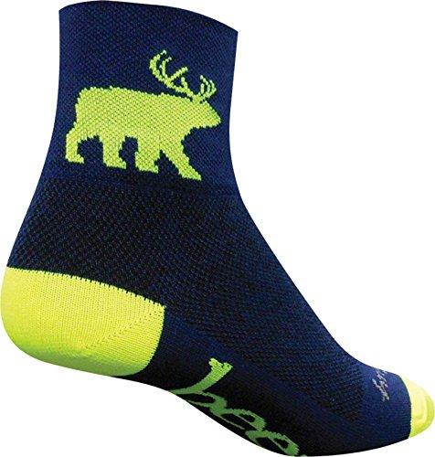 SockGuy Men's Bear Me Sock, Blue, L-XL/9-13 Men
