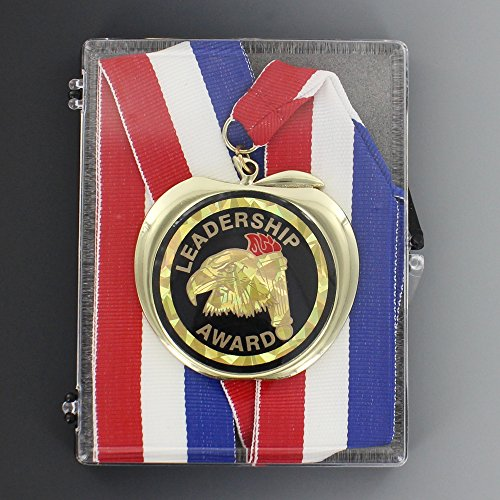 Leadership Award Medal comes with Ribbon and Boxed - Pack of 6