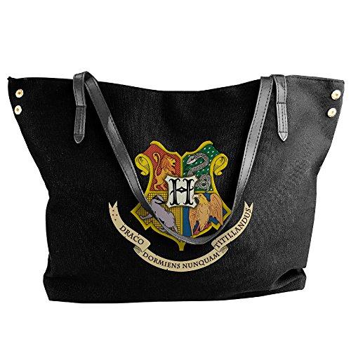 [Harry Potter Hogwarts Logo Women Canvas Handle Single Shoulder Bag/Handbag] (Hermione Granger Costume Casual)
