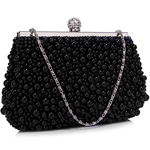 L And S Handbags - Cartera de mano para mujer negro