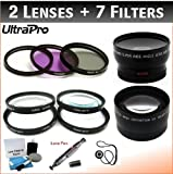 40.5mm Digital Pro Deluxe Lens + Filter Bundle, Includes 2x Telephoto Lens + 0.45x HD Wide Angle Lens w/Macro + 3-piece Filter Kit (UV, CPL, FL-D) + 4-Piece Close-Up Filter Kit (+1, +2, +4, +10) + Lens Cleaning Pen + Lens Cap Keeper + UltraPro Deluxe Lens Cleaning Kit. For the Samsung NX1100 with 20-50mm f/3.5-5.6 Lens.