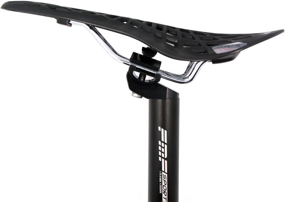 Black Seatpost Seat Post Pillar Saddle Rail Bike Bicycle Bracket Clamp