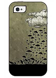 OUO Fashion Design Iphone 4 4S 4G Case for Teen Girls with Clear Picture of Vintage Cartoon Umbrella Picture