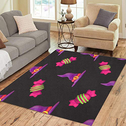 Semtomn Area Rug 2' X 3' Purple All Plasticine for Halloween Dark Pattern Fills Saints Home Decor Collection Floor Rugs Carpet for Living Room Bedroom Dining Room]()