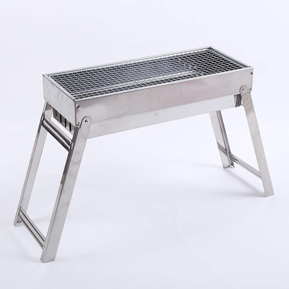 Bjzxz Folding BBQ Outdoor BBQ Grill Gift Grill Portable Wild Boiler Brazier (Size : S)
