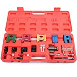 Toogoo 19PCS Universal Car Petrol Engine Twin Timing Cam Timing Locking Tool Setting & Flywheel Holding Tool Kit