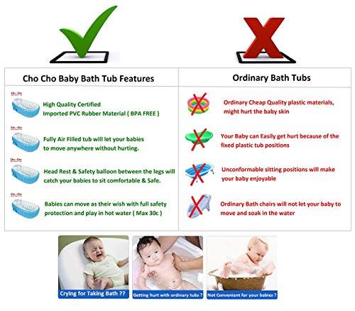 Cho-Cho ® European Standard Inflatable Baby Bath Tub with Pump
