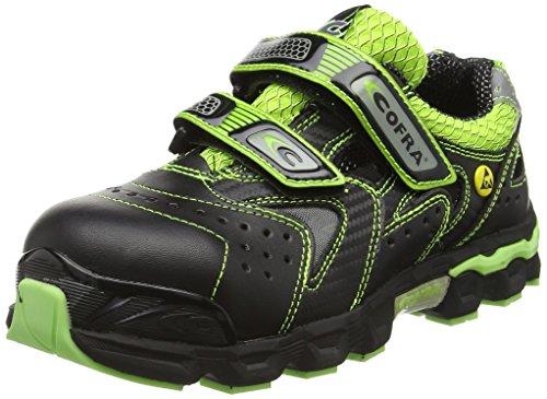 Cofra JE029–000.w36taglia 36Ciello S1P SRC ESD Scarpe di sicurezza, colore: nero/verde