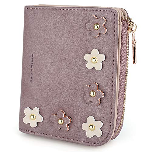 Young Cute Teen (UTO Women PU Leather Wallet Multi Flower Card Holder Organizer Small Coin Purse)