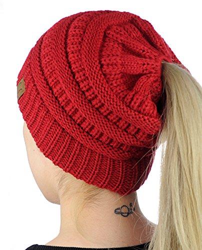 CC-BeanieTail-Soft-Stretch-Cable-Knit-Messy-High-Bun-Ponytail-Beanie-Hat